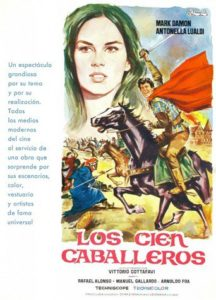"""Poster for the movie """"Los cien caballeros"""""""