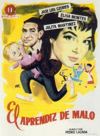 "Poster for the movie ""El aprendiz de malo"""