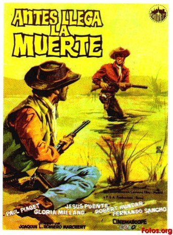 "Poster for the movie ""Antes llega la muerte"""