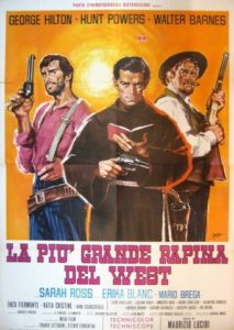 "Poster for the movie ""El mayor atraco frustrado del oeste."""