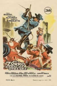 "Poster for the movie ""El Zorro cabalga otra vez"""