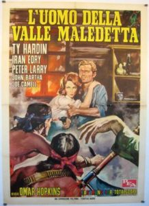 "Poster for the movie ""El hombre del valle maldito"""