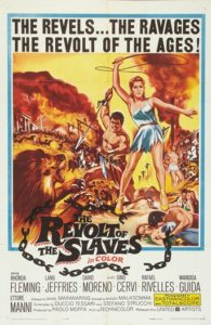 "Poster for the movie ""La rebelion de los esclavos"""