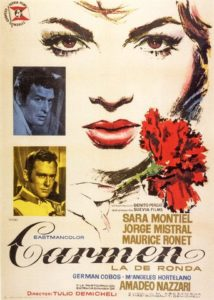 "Poster for the movie ""Carmen, la de Ronda"""