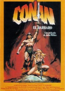 "Poster for the movie ""Conan, el bárbaro"""