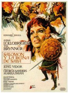 "Poster for the movie ""Salomón y la reina de Saba"""