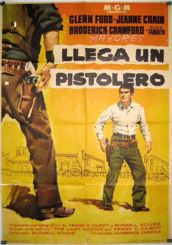 "Poster for the movie ""Llega un pistolero"""