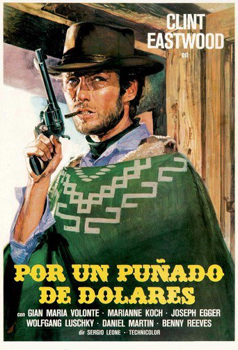 "Poster for the movie ""Por un puñado de dólares"""