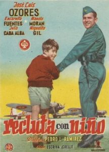 "Poster for the movie ""Recluta con niño"""
