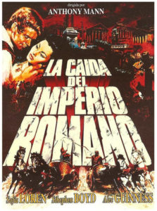 "Poster for the movie ""La caída del imperio romano"""