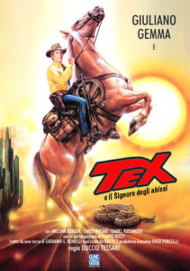 "Poster for the movie ""Tex Wiler e il signore degli abissi"""