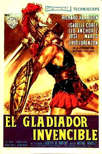 "Poster for the movie ""Il gladiatore invincibile"""