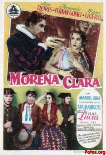 "Poster for the movie ""Morena Clara"""