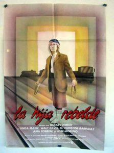 "Poster for the movie ""La Hija rebelde"""