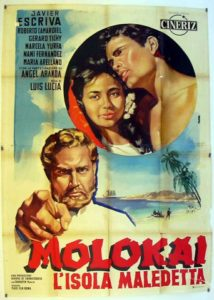 "Poster for the movie ""Molokai, la isla maldita"""