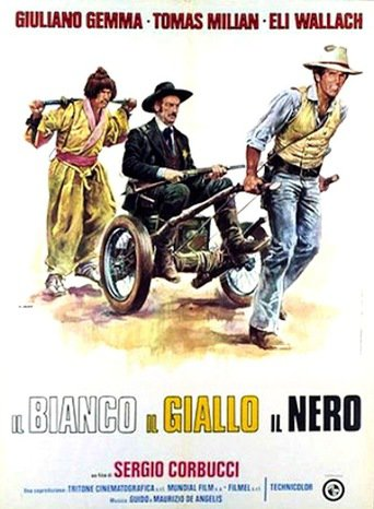 "Poster for the movie ""El Blanco, el Amarillo y el Negro"""