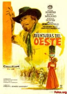 "Poster for the movie ""Aventuras del Oeste"""