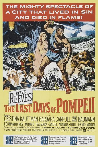 "Poster for the movie ""Los últimos días de Pompeya"""