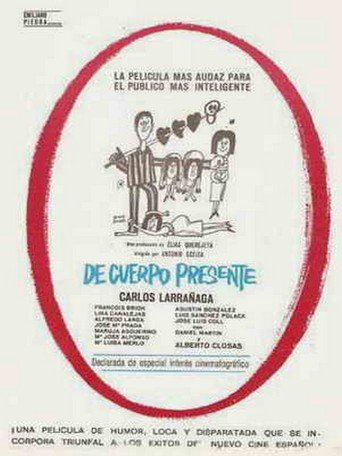 "Poster for the movie ""De cuerpo presente"""