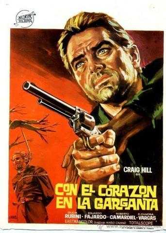 "Poster for the movie ""Con el corazón en la garganta"""